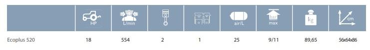 Kompresor sadowniczy - Ecoplus 520 - kompresor do sekatorów - ECOP.5250 - Campagnola 20